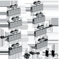 Correderas aereas SV-Telescopica y progresiva sincronizada 4 puertas